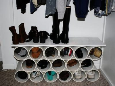 Easy DIY PVC Pipe Shoe Organiser