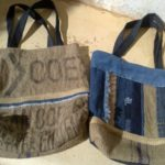 hessian shoulder bags