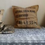hessian and denim cushions