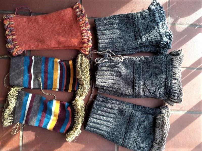 Lovely warm, stylish upcycled mittens