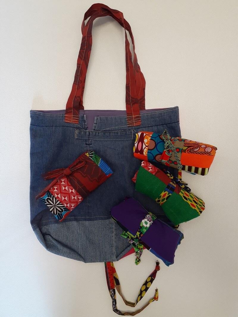 Lovely big upcycled denim shopping bags,