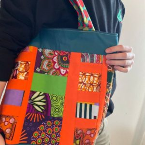 This beautiful bright and cheery shopping bag just makes one want to go shopping